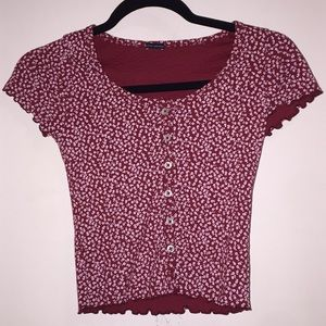 red floral brandy zelly top